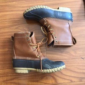 L. L. Bean Brown Goretex Duck Boots